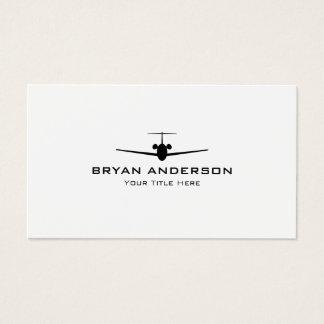 Cartão de visita do avião do jato