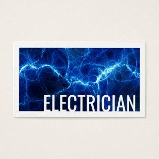 Cartão de visita do azul da descarga elétrica do