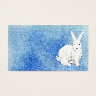 Cartão de visita do azul do coelho