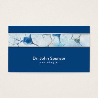 Cartão de visita do azul do neurologista