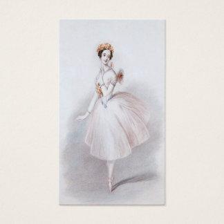 Cartão de visita do balé
