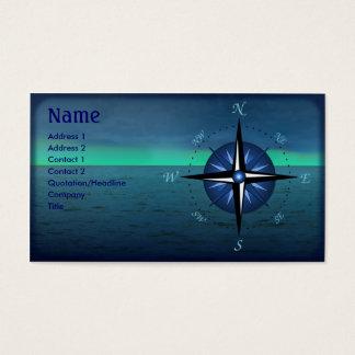 Cartão de visita do barco do rosa de compasso