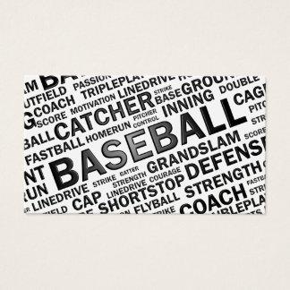 Cartão de visita do basebol