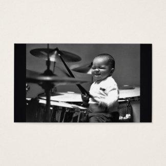Cartão de visita do baterista do bebê