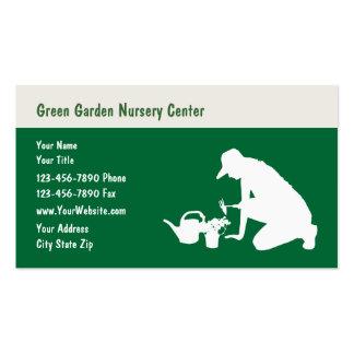 Cartão de visita do berçário do jardim