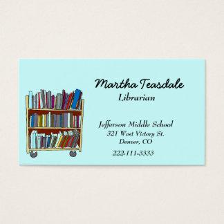 Cartão de visita do bibliotecário de escola