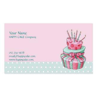 Cartão de visita do bolo da celebração