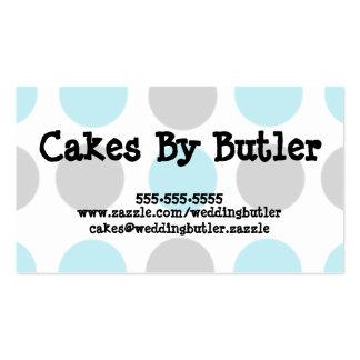 Cartão de visita do bolo de casamento