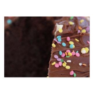 Cartão de visita do bolo de chocolate