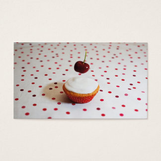 Cartão de visita do bolo e da cereja
