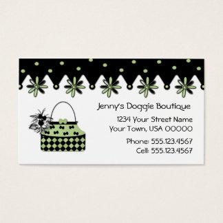 Cartão de visita do boutique da hortelã e do cão