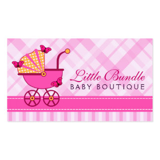 Cartão de visita do boutique do bebê da loja do