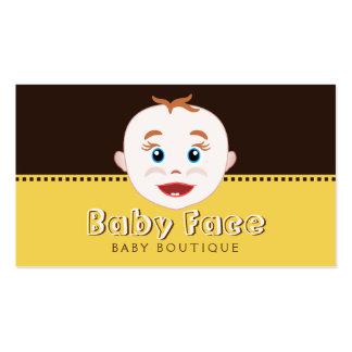 Cartão de visita do boutique do bebê da loja dos
