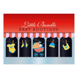 Cartão de visita do boutique dos bebês da montra