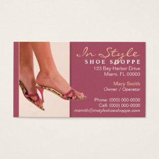 Cartão de visita do boutique dos calçados