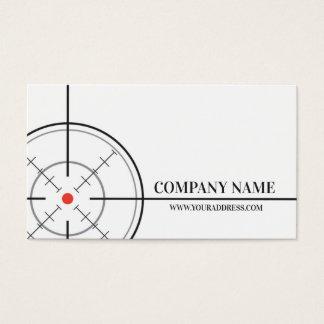 Cartão de visita do branco do alvo da loja do