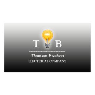 Cartão de visita do bulbo do eletricista