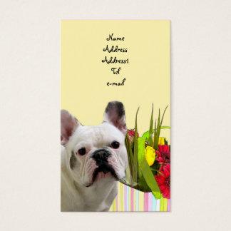 Cartão de visita do buldogue francês