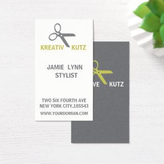 Cartão de visita do cabeleireiro