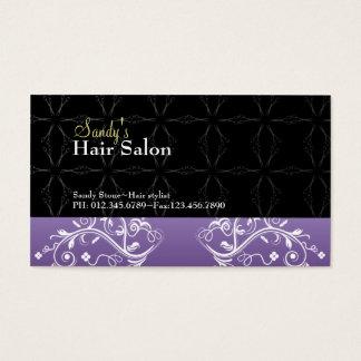 Cartão de visita do cabeleireiro e cartão da