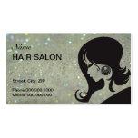 Cartão de visita do cabeleireiro - escolha sua cor