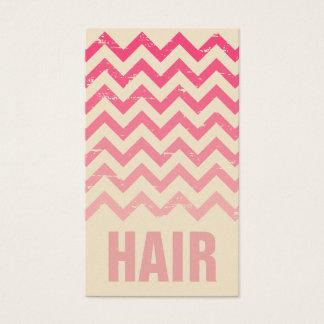 Cartão de visita do cabeleireiro - Ombre