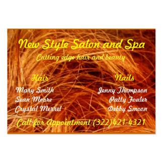 Cartão de visita do cabeleireiro ou do estilista