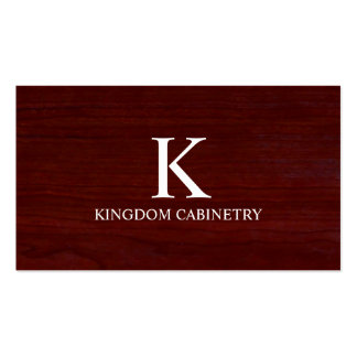 Cartão de visita do Cabinetry carpintaria