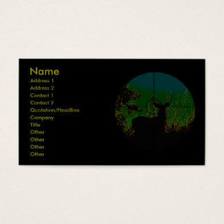 Cartão de visita do caçador da noite