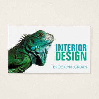 Cartão de visita do camaleão do desenhista do