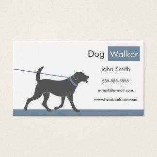 Cartão de visita do caminhante do cão