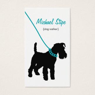 Cartão de visita do caminhante do cão (cerceta)