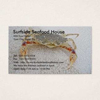 Cartão de visita do caranguejo de chita