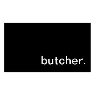 Cartão de visita do carniceiro da carne