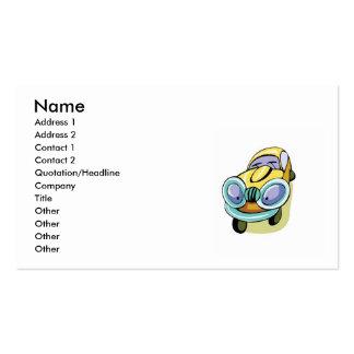Cartão de visita do carro dos desenhos animados