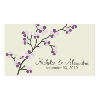 Cartão de visita do casamento da flor de cerejeira