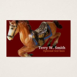 Cartão de visita do cavalo de balanço