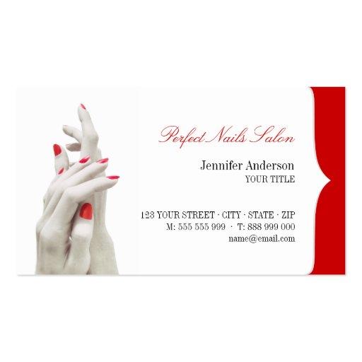 Cartão de visita do centro da beleza do salão de b