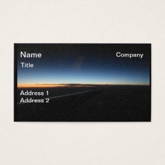 Cartão de visita do céu do por do sol