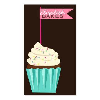 Cartão de visita do chapéu de coco do cupcake