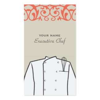 Cartão de visita do chefe de cozinha