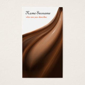 cartão de visita do chocolate