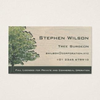 Cartão de visita do cirurgião de árvore