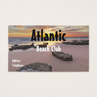 Cartão de visita do clube da praia. Tema do verão