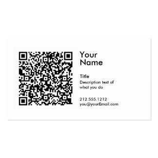 Cartão de visita do código de QR