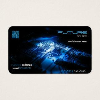 cartão de visita do código do qr dos eletrônicos
