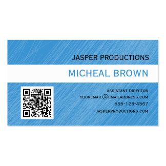 Cartão de visita do código dos azul-céu QR
