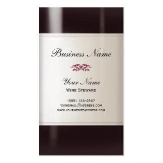 Cartão de visita do comissário de bordo de vinho