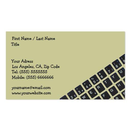 Cartão de visita do computador