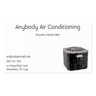 Cartão de visita do condicionador de ar
